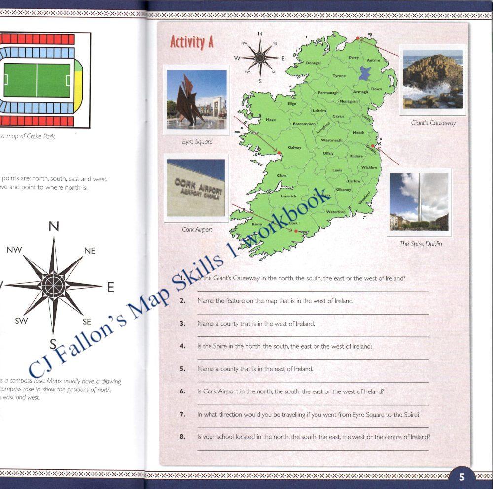 CJ Fallon's Map Skills 1 workbook