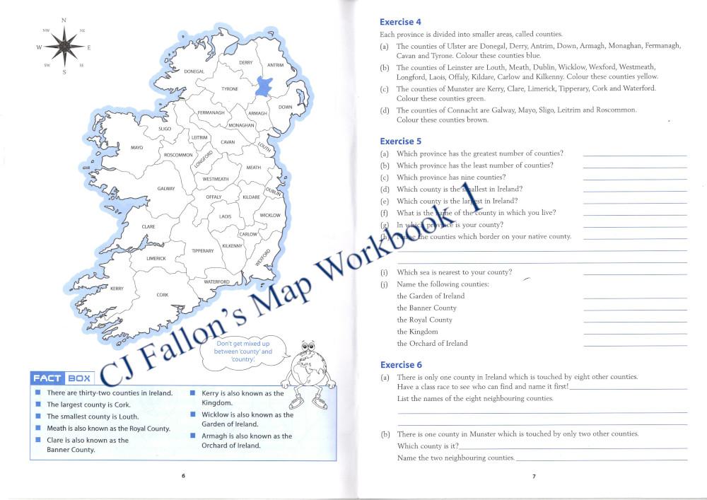 CJ Fallon's Map Workbook 1