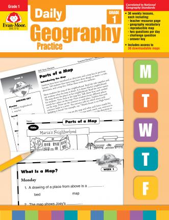 Evan Moor Daily Geography Practice Book for Grade 1