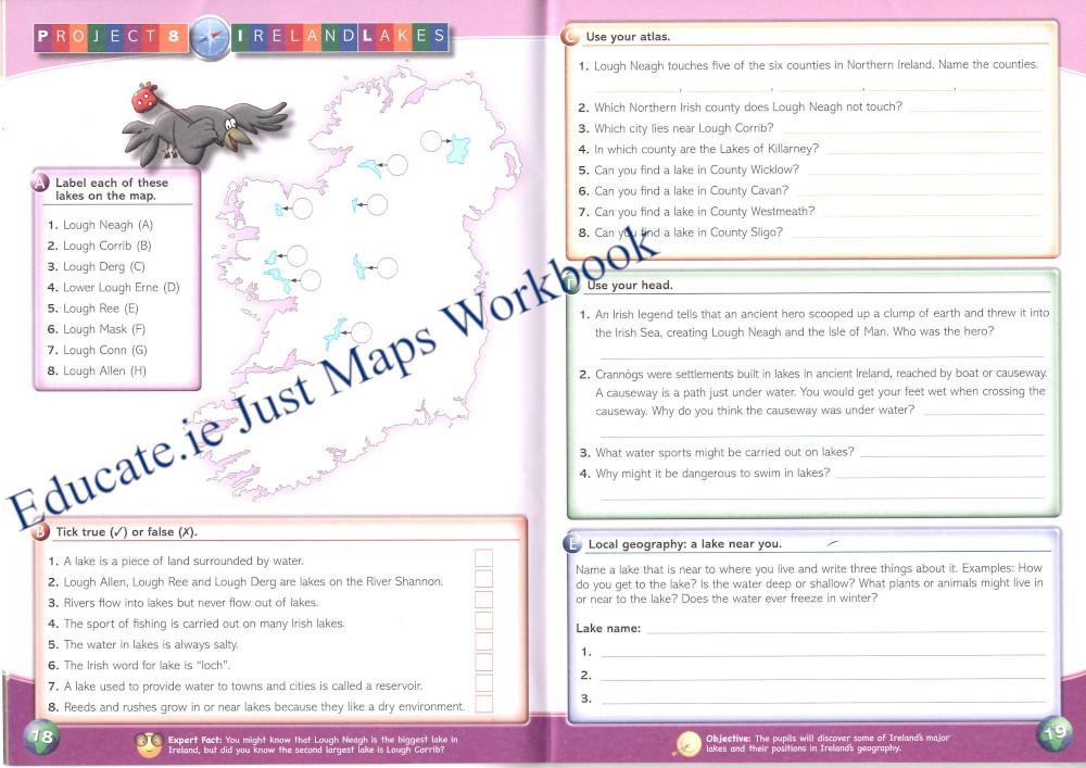 Educate.ie Just Maps Workbook