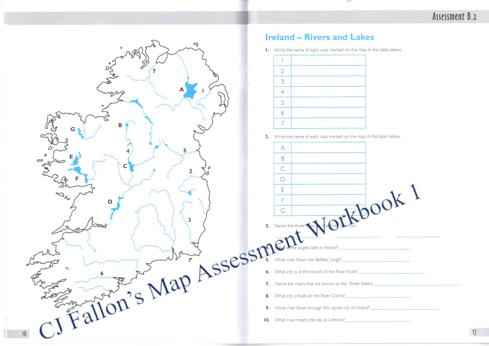 CJ Fallon's Map Assessment Workbook 1